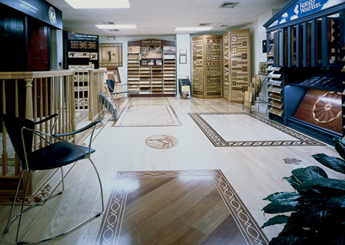 Master craftsmen 1999 floor of the year winners wood for Showroom flooring ideas