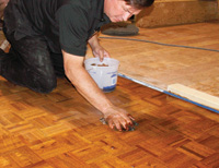 Lying A Wax Finish On Wood Floor