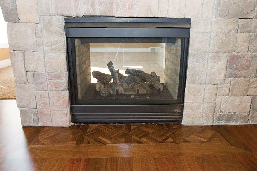 Step by step how to picture frame a fireplace with wood for Wood floor up to fireplace