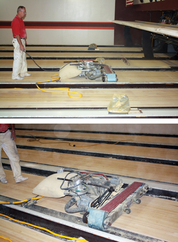 A Look At The Dying Craft Of Sanding Finishing Bowling Alleys