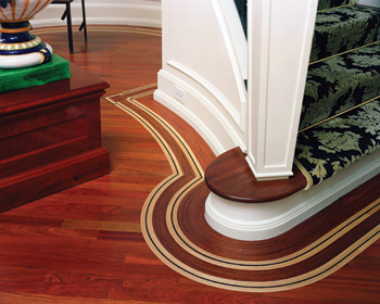 This Endurance Floor Company Floor Features Walnut And Ebony Bent Into A  Field Of Brazilian Cherry.