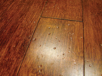about janka hardness can lead customers to be surprised by dents like these photos courtesy of doug foucault hefeng flooring - Bamboo Flooring Reviews