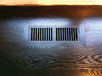 Trick of the trade take the pain out of staining vents wood floor photo of staining vents staining wood floor ppazfo