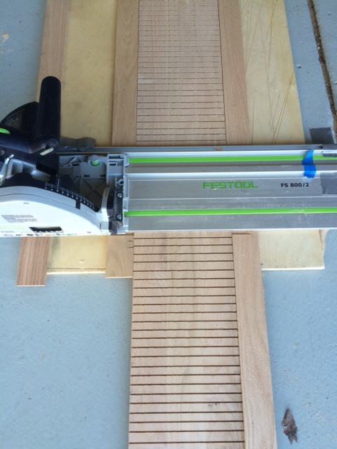Amazing I Laid The Riser On Scrap Plywood. I Attached Two Wood Pieces On Each Side  To Keep That Riser In Place. I Positioned My Track Saw At A Right Angle And  At ...