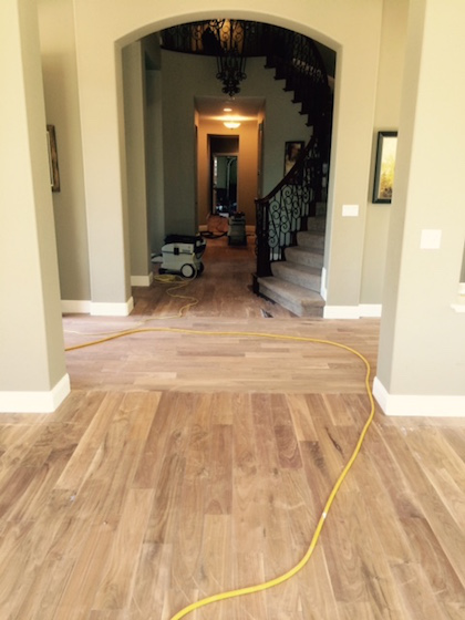 Refinishing Engineered Floors With Aluminum Oxide Finish