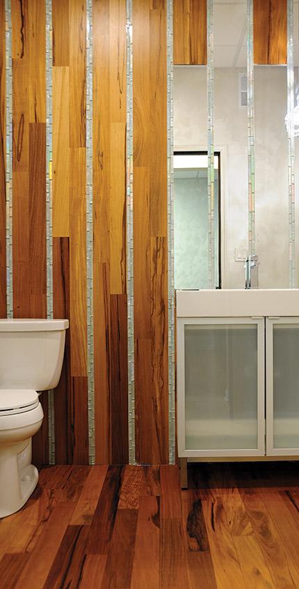 courtesy of ab hardwoods - Light Hardwood Bathroom 2015
