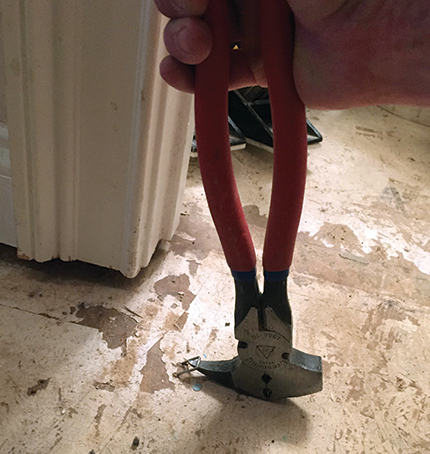 Trick Of The Trade Getting Subfloor Staples Out Simply Wood Floor
