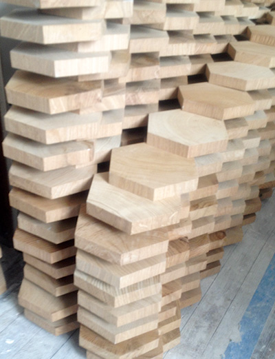 Special Delivery Nearly 4500 Pieces In Hexagonal End Grain Floor
