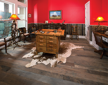 Barn beams become custom flooring at texas ranch wood for Hill country wood flooring