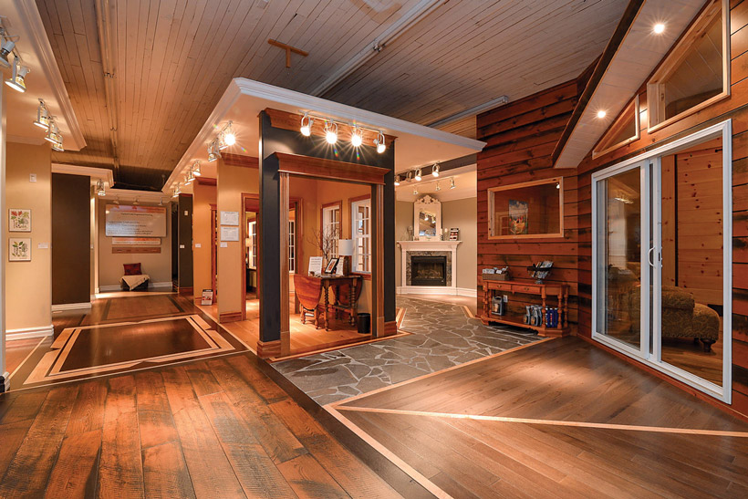 Retail q a the gaylord hardwood showroom in tweed is like for Wood flooring retailers