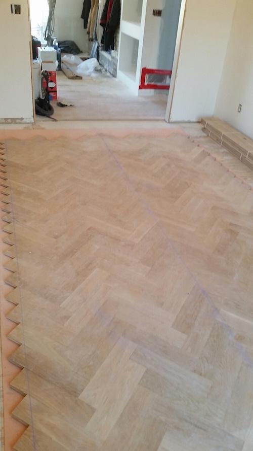 How to a herringbone floor part 4 installation sanding for True hardwood flooring