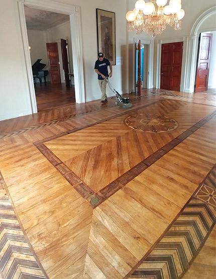 A Historic Wood Floor Like An Old Saddle Wood Floor Business