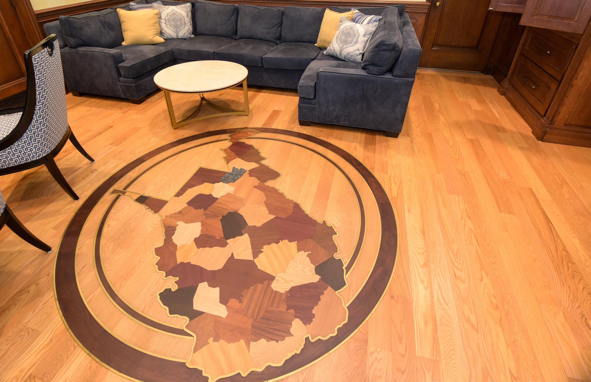 Stunning Wood Floor Inlay Part Of Wasteful Spending By WV - Medallion flooring distributor