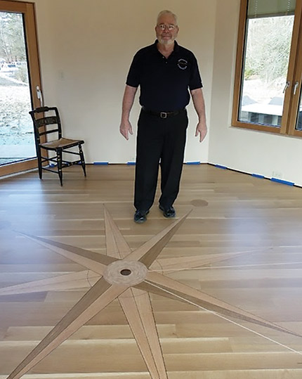 How I Did This Floor A Custom Compass Rose And More Wood Floor
