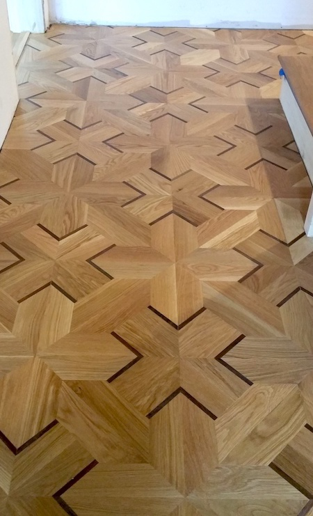 Wood Floor of the Week: a '3D' White Oak and Wenge Parquet - Wood