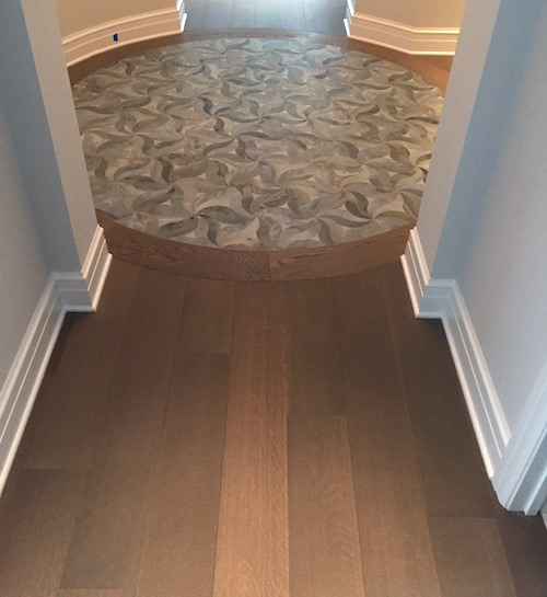 Hardwood Flooring Chicago Suburbs: Wood Floor Of The Week: White Oak Circle In A Chicago High