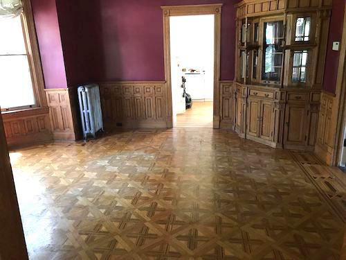 The parquet floors were originally used as a dance floor. (Image: William Witten Home Facebook page)