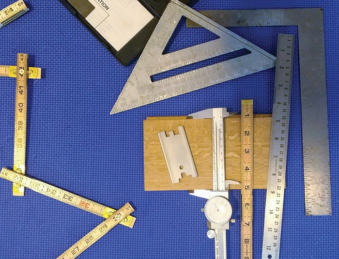 Measuring board width can be done using various tools; the caliper is the most accurate.