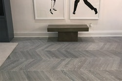 Demand for chevron is on the rise, so it's important to be familiar with specifics for ordering and installation. (Photo courtesy of State of the Art Wood Flooring Gallery (New York))
