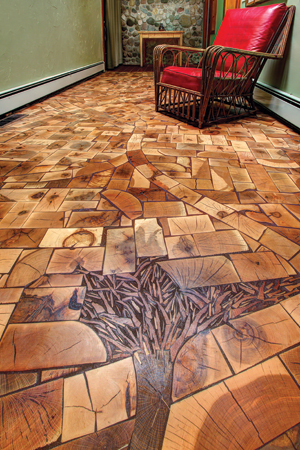 Kids Install End Grain Floor With One Of Industry S Best