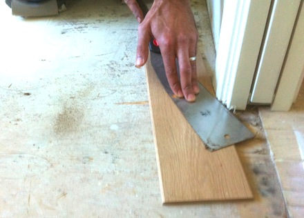 How to use hand tools to perform tasks done by power tools for Door undercut saw
