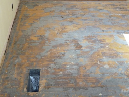 Electrical Hookup At An Old House Wood Floor Business Magazine - Removing Carpet Pad Glue From Wood Floor. Carpet Glue Hardwood