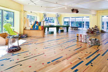 Museum Goes Green With Reclaimed Gym Wood Flooring Wood Floor - Reclaimed gym flooring for sale